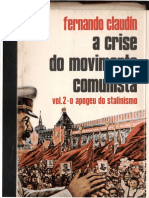 CLAUDIN v.2 a Crise Do Movimento Comunista Apogeu Do Stalinismo