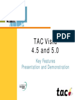 TAC Vista 4.5 and 5.0 New Features Overview Presentation