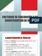 Criterios de Evaluacion ambiental