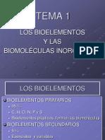 Los Bioelementos y Las Biomoléculas Inorgánicas (1)