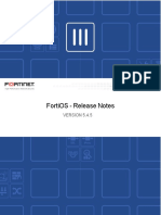 Fortios v5.4.5 Release Notes