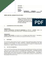 Demanda 2 de Rectificacion de Areas y Linderos