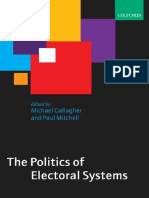 Michael Gallagher, Paul Mitchell-The Politics of Electoral Systems (2008)
