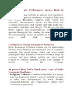 Socio Economic Problems