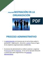 Administración en La Organización 5