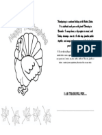 Thanksgiving Card Activity for Kids