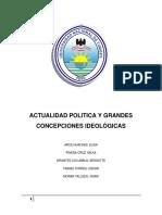 Actualidad Política y Grandes Concepciones Ideologicas