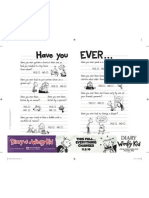 Diary of a Wimpy Kid - Activity Sheet 2
