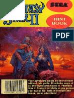 Phantasy Star II Official Hint Book