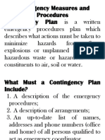 Contingency Measures and Plan