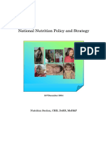 Nutrition Policy and Strategy 2004