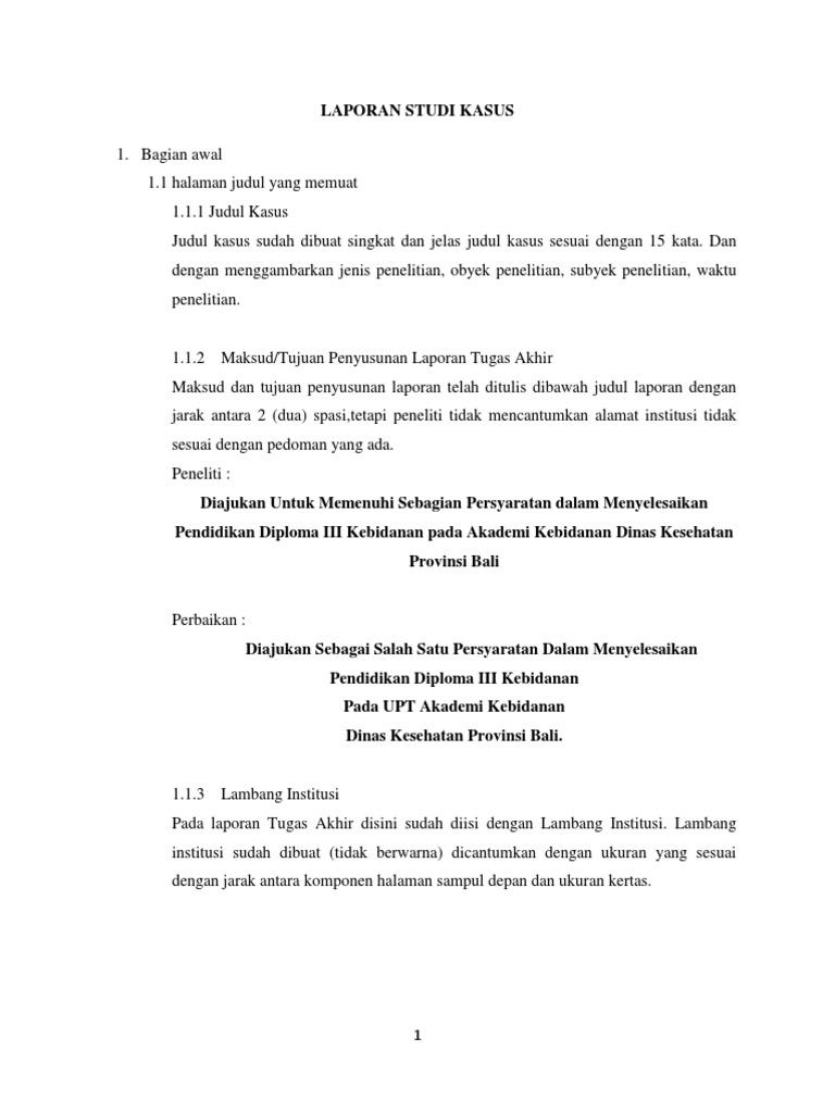 Laporan Studi Kasus Wulan