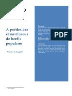 A Poetica Das Casas Museus Dos Heróis Populares