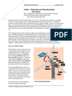 Wind Turbine Materials and Manufacturing FactSheet