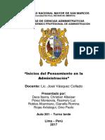 INICIOS DEL PENSAMIENTO EN LA  ADMINISTRACIÓN.docx