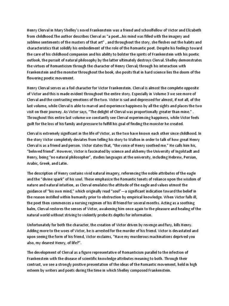 a description of the psychological origins of mary shelleys frankenstein Frankenstein test mr foley sacs 2012  what is unexpected about the description of the actual creation of  what sort of psychological understanding is shelley.