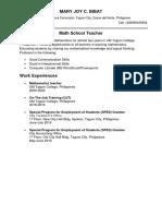 Math School Teacher