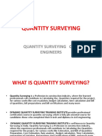 Quantity Surveying Ppt File