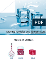 Moving Particles and Temperature