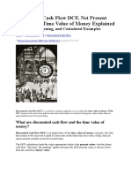 Discounted Cash Flow DCF