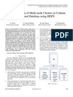Implementation of Multi Node Clusters in Column Oriented Database Using HDFS