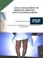 Osteoarthritis Management (PKB)