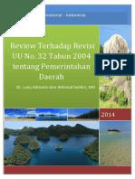 Review Terhadap Revisi UU No 32 Tahun 2004