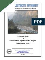 Feasibility Report Tamakoshi V