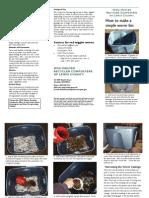 How to make a simple worm bin - Lewis County, Washington