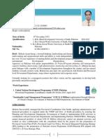 CV Mohsin Azam New