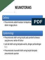 definisi pneumothoraks