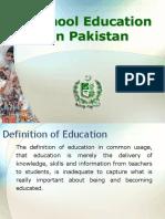School Education in Pakistan