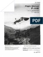 General Dynamics F-111E Flight Manual