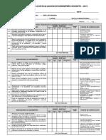 Ficha de Evaluación Desempeño Docente 2014