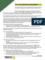 Developing a Volunteer Agreement Information Sheet Nl