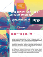 Behavioural Characterstics of EDM Fans