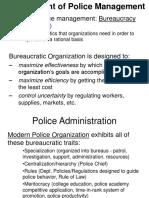 Development of Police Management