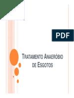 Tratamento Secundario de Esgotos Tratamento Anaerobio