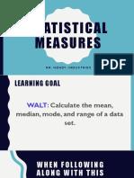 statistical measures