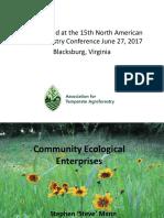 Community Ecological Enterprises