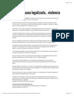 """""""Reduce Mariguana Legalizada...Violencia"""""""