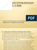 Classless Inter-domain Routing (Cidr) Ppt