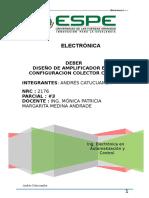Diseño Colector Comun