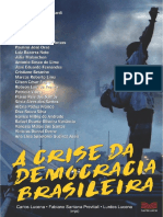 Livro a Crise Da Democracia Brasileira 2017