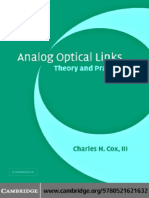 Charles H. Cox III Analog Optical Links Theory and Practice Cambridge Studies in Modern Op