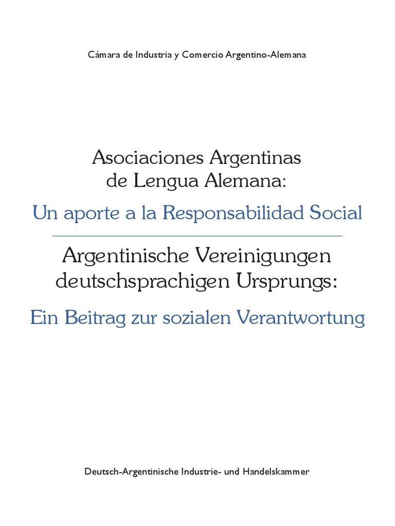Argentinische Vereinigungen Deutschsprachigen Ursprungs