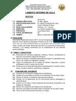 Reglamento Interno de Aula Juan