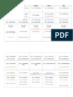 Schedule With Specials