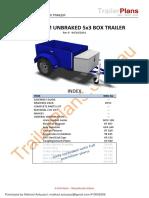 750kg 5x3 Box Trailer Unbraked Rev0