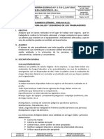 DOCUMENTO CODIGO N° PGG-AF.4.1.2. PROCEDIMIENTO PARA LA SALUD Y SEGURIDAD DE LOS TRABAJADORES